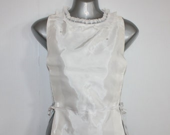 00ffc606a43 Vintage Dickie Shirt Front Mid Century Pleated Sheer Lace Neck