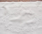 Edwardian White Work Embroidered Table Runner Madeira 17.5 x 53