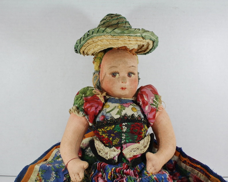 9c45d8b1ca6 Vintage Mexican Bed Doll Norah Wellings Cloth Doll 17
