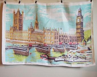 Westminster London Vintage Tea Towel Linen