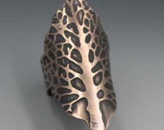 Tree of Life Etched Copper Ring SIZE 7