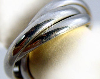 Russian Wedding Band  Trinity Ring Made To Order