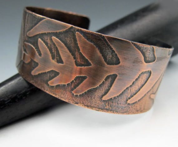 Etched Fern Cuff Bracelet