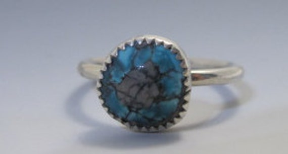 Handmade Turquoise and Sterling Silver Stacking Ring