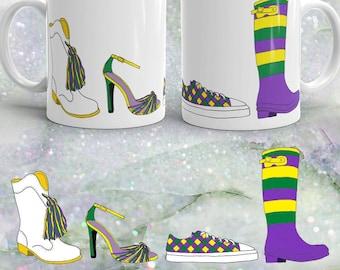 Mardi Gras Shoes Coffee Mug