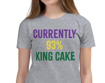 Currently 93% King Cake Youth Mardi Gras Short Sleeve T-Shirt