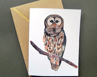 Barn Owl-A2 Blank Note Card-Digital Download