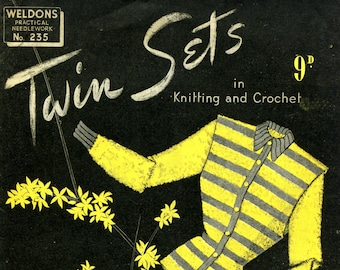 c6350631f7b Ladies 1940s Twin Sets Jumper and Cardigan 4 Designs 33
