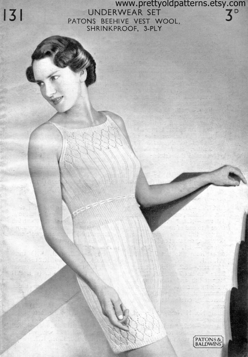 25c45f8766613 Ladies Lingerie Underwear Set Panties Knickers and Vest Bust | Etsy