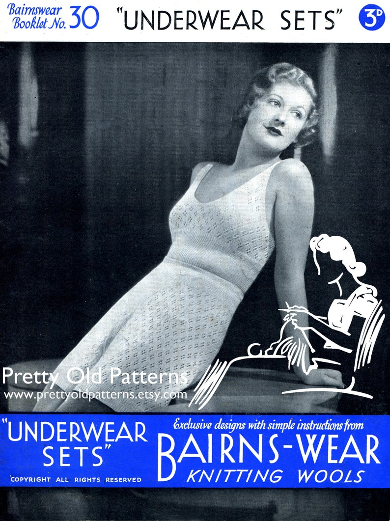 Early 1930s Ladies Underwear Lingerie Sets 4 Designs 30 to 38 image 0