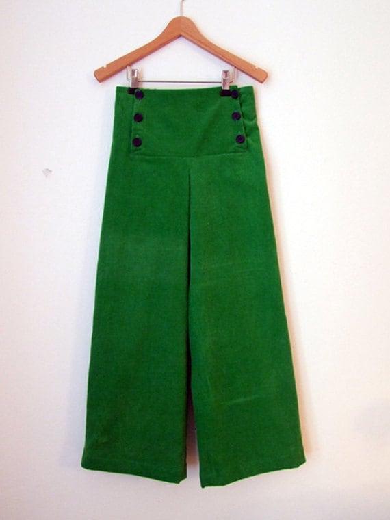 Etsy Ahoi Pantaloni Verde Di Velluto A Coste xAwFOSq8C