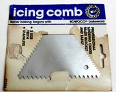 Vintage Stainless Steel Icing Comb - Cake Decorator Icing Comb