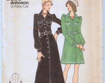Vintage Betsey Johnson Of Alley Cat Junior Petite Close Fitting Dress Sewing Pattern - Butterick 3284 - Size 9 JP - Bust 33 - UNCUT