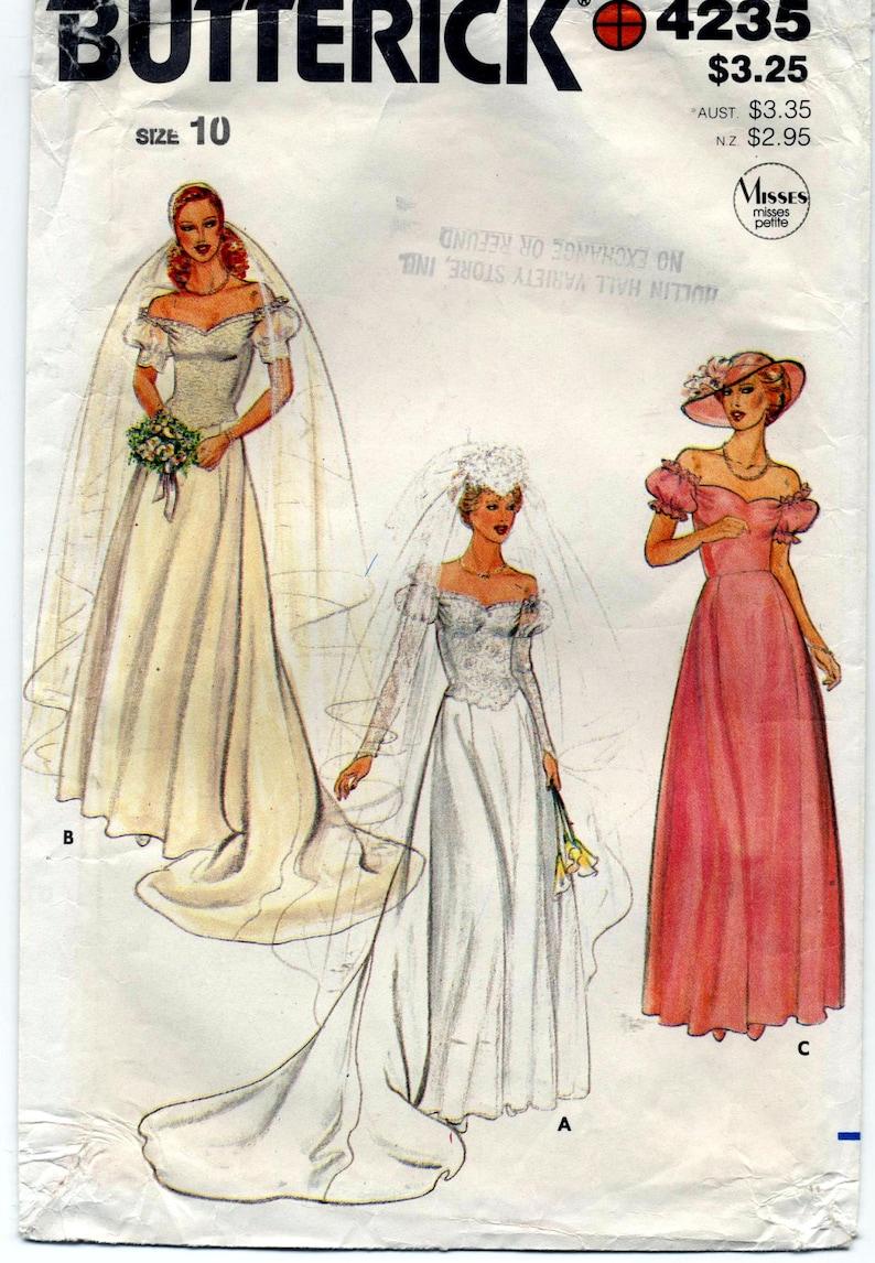 5ce29a92bb27 Annata non trova modello di abito da sposa cucito Butterick
