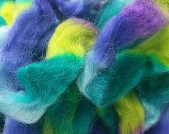Northern Lights Printed Wool Top - Violets - 4oz