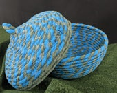 Fabric Coil Bowl with Matching Lid