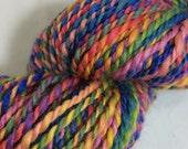 Rainbow Handspun BFL Yarn - 138 yards - worsted