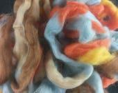 Northern Lights Printed Wool Top - Caramel Apple - 4oz