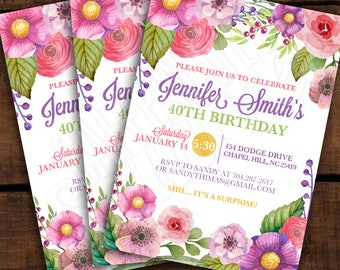 Up For A Birthday Party Invitations