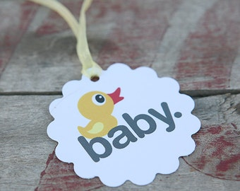 Baby Duck Tag, Perfect for Baby Showers, Ducks, Adorable Favors For Baby Shower