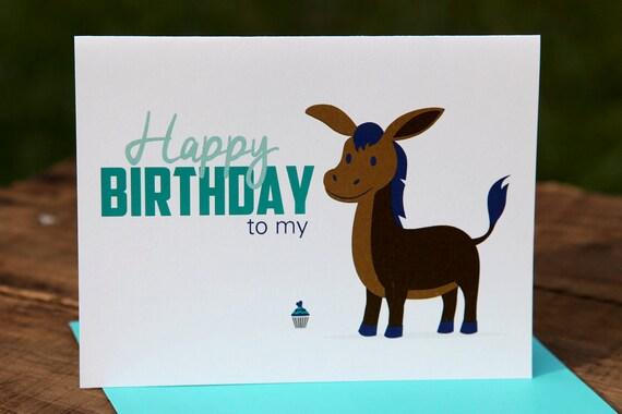 Happy Birthday To My Donkey Ass Birthday Card Happy Etsy