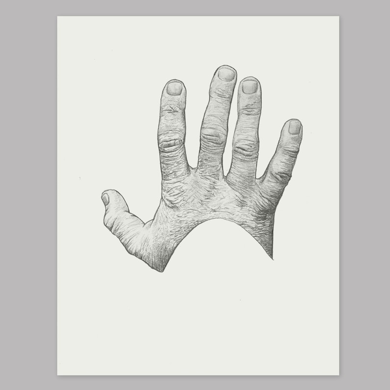 11 x 14 pouces - dessin au crayon réaliste Original dessiné à la main.  Tirage d'art. Cadeau. Art mural. Décor à la maison.