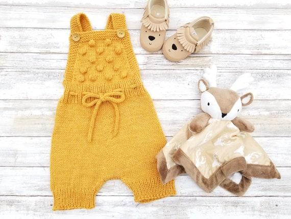 8324c3dfa Neutral Color Popcorn Bloomers. Popcorn Romper. Hand Knit Wool