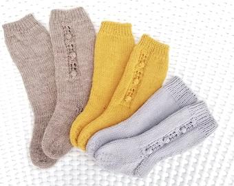 Instant Download Knee High Baby Socks PDF Pattern. Hand Knit Baby Knee High Socks Pattern.