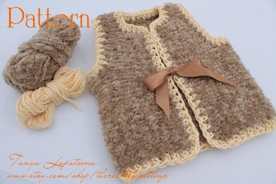 Instant Download Knitting pattern PDF Fur Vest. Baby Fur  901cd341cdb4