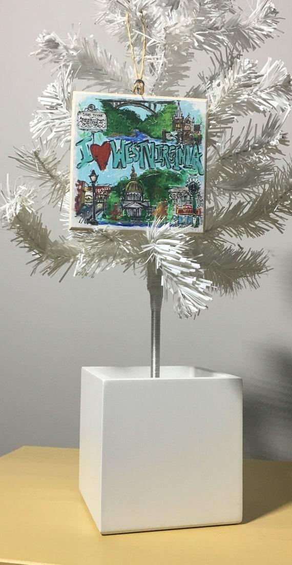 image 0 - I Love West Virginia Christmas Ornament Etsy