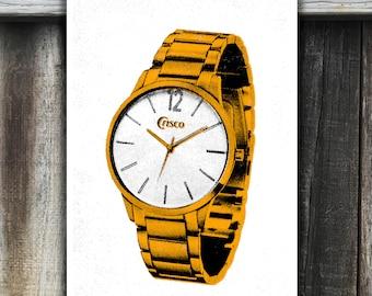 "Crisco Wristwatch • 13""x19"" screen printed poster"