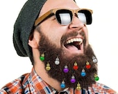 16 Beard Ornaments, UNIQUE HIPSTER Christmas Ornament Beard ACCESSORIES Baubles Christmas Decoration Beard Art Bling Pack of 16