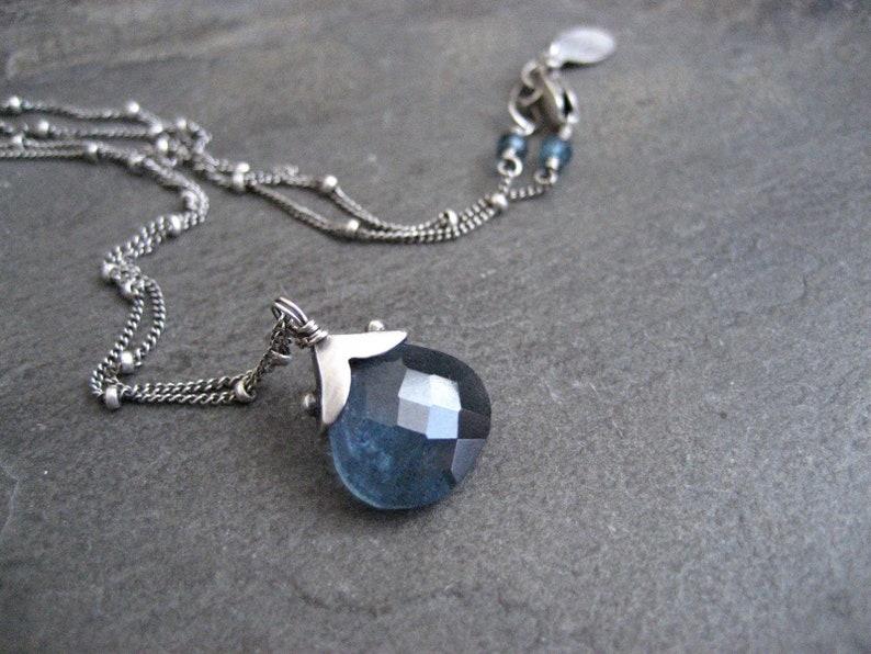 99594f42c2f Aigue marine collier pendentif en pierre bleue éléments en