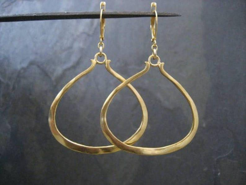 683ff1a165421 Triangular earrings, hoop earrings, triangle dangle, gold hoops,  asymmetrical earrings