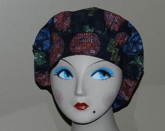 Pearl-Jam  Mini Bouffant Surgical Cap by Nurseheadwear Bakers Cap/Scrub Cap/Bakers Cap