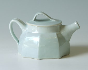 Handmade Pottery Teapot. Porcelain teapot