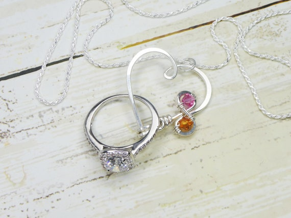 Verschluss Ring Halter Halskette Infinity Birthstone   Etsy b3c12922fb