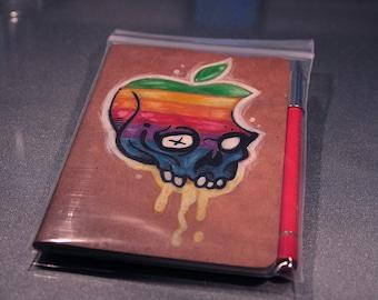 Hand Drawn Hackintosh Rainbow Luddite Red Journal