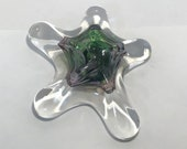 Green & Purple Blown Glass Sea Star. This organic shape is handmade and can hang adding sparkle and shine to your beach home decor!