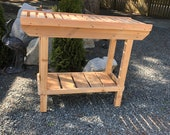 Beautiful and functional Red Cedar Potting Table.  Canadian handmade for the busy growers and gardeners!  CANNOT SHIP - Pick up only!