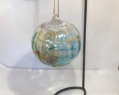 Blown glass ball, float witches, friendship or tidal ball. Great for fish Ponds and gardens.  Handmade and unique is size, shape and colour