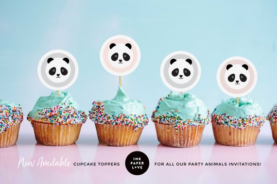image about Printable Cupcakes identify PANDA CUPCAKE TOPPERS are printable, for little ones birthday get together cupcakes, matching the panda topic celebration animal invites.