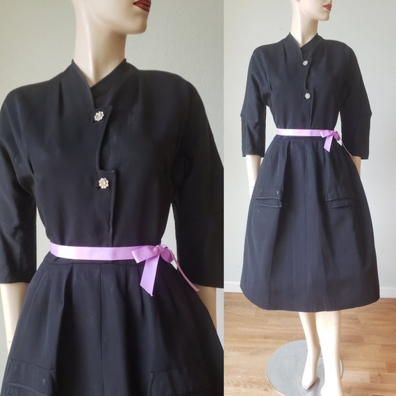 Elegant! 1950s Hattie Carnegie Silk Taffeta Shirtw