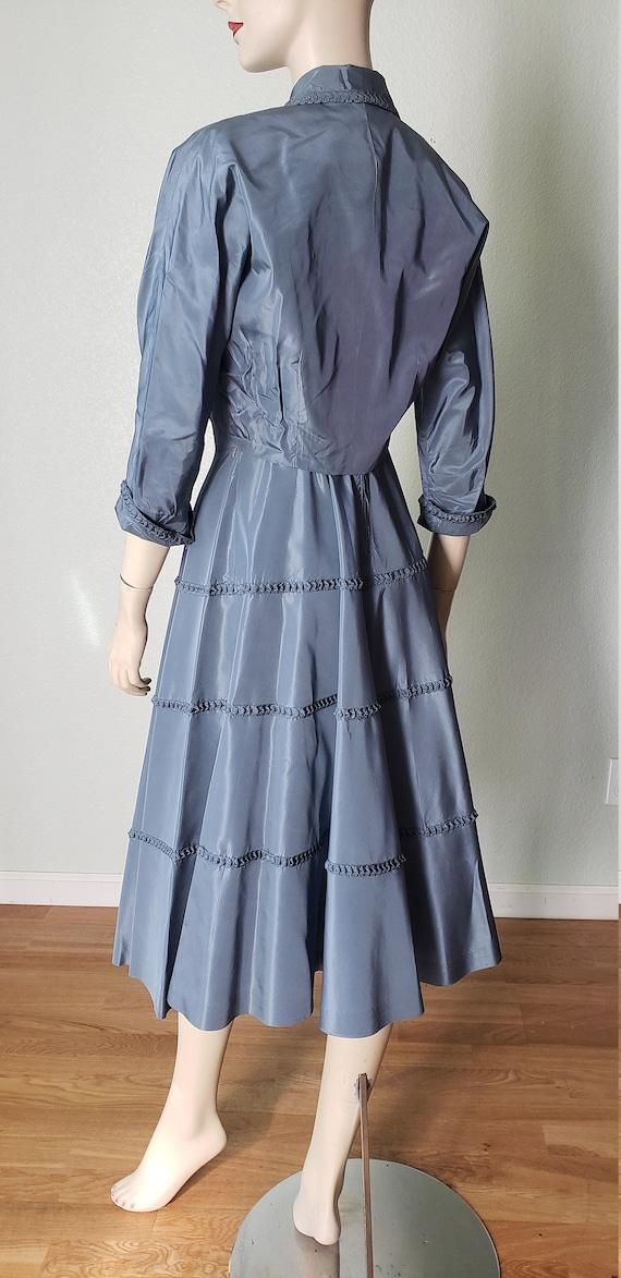 1940s Taffeta Party Dress with Jacket - 1940s Dre… - image 3