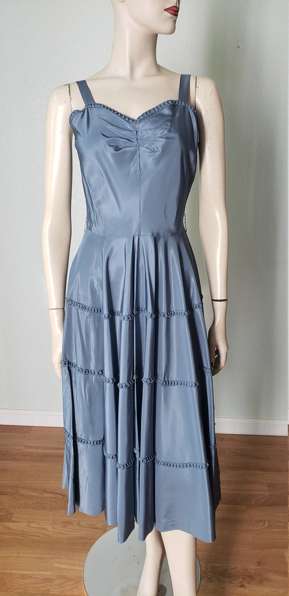 1940s Taffeta Party Dress with Jacket - 1940s Dre… - image 6