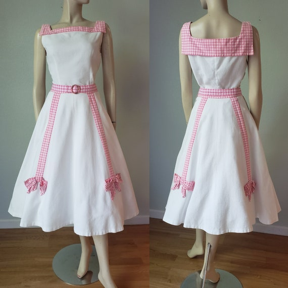 Cotton Candy 1950s  Skirt and Blouse Set / 1950s S