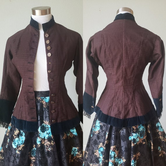 Incredibly Cute Victorian 1800s Era Fitted Cotton