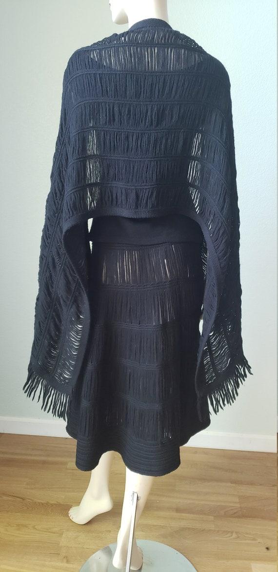 1940s Wool Knit Skirt Blouse Shawl Set / 1940s Kn… - image 3