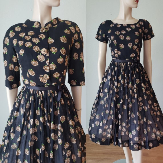 NICELY Made 1950s Cotton Voile Dress Suit / 1950s