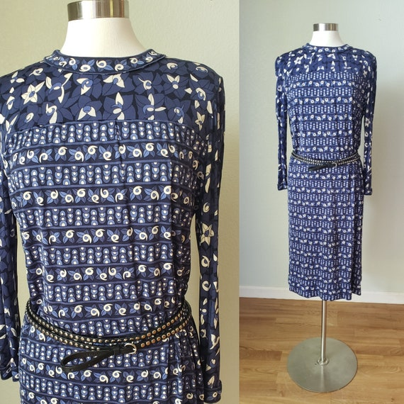 1960s Averardo Bessi Silk Jersey Dress / 1960s Sil